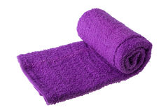 紫色毛巾 免版税库存图片