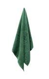 绿色毛巾 免版税图库摄影