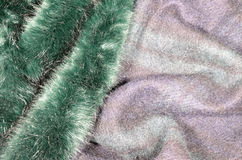 绿色毛皮- coloourful纹理 免版税库存照片