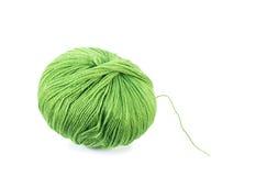 绿色毛纱球 免版税库存图片