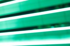 绿色氖LED线 夜轻的背景与 免版税库存照片