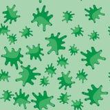 绿色污点动画片无缝的样式617 皇族释放例证