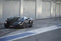 黑色汽车体育运动 图库摄影