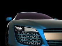 黑色汽车体育运动 3d设计 库存图片