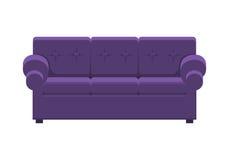 绿色沙发 经典舒适长沙发 向量例证