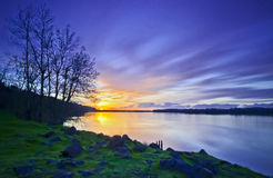 紫色河 图库摄影