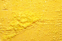 黄色油漆背景 免版税库存图片