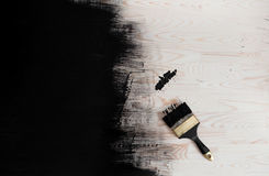 黑色油漆 库存图片