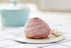 紫色油炸薯片 免版税库存照片