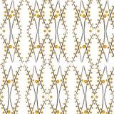 黄色波浪无缝的样式 免版税图库摄影