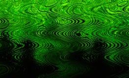 绿色波浪纹理 免版税库存照片