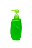 黄绿色泵浦瓶 免版税库存照片