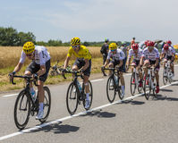 黄色泽西-环法自行车赛2017年 免版税图库摄影