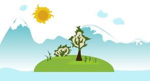 绿色海岛 免版税库存图片