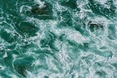 黑色海岸克里米亚海运海浪乌克兰 免版税图库摄影
