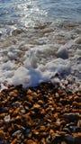 黑色海岸克里米亚海运海浪乌克兰 免版税库存照片
