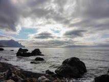 黑色海岸克里米亚海运 库存照片