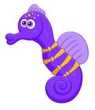 紫色海马 库存照片