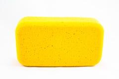 黄色海绵 免版税图库摄影