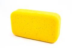 黄色海绵 库存图片