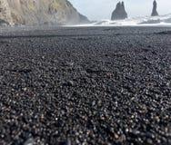 黑色海滩 免版税库存图片