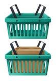 绿色浸泡的篮子 免版税库存照片