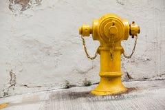 黄色消防栓 免版税图库摄影