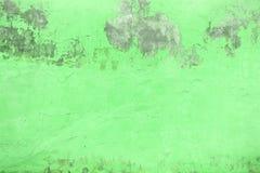 绿色混凝土墙纹理,被绘的水泥,特写镜头 免版税库存照片