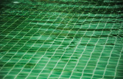 绿色游泳池的马赛克  免版税库存图片