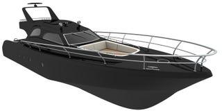 黑色游艇 向量例证