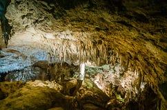 绿色湖室-卡尔斯巴德洞穴国家公园 库存图片