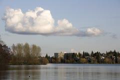 绿色湖西雅图 免版税库存图片
