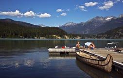 绿色湖, BC,加拿大 免版税库存照片