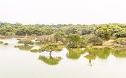 绿色湖水 免版税库存图片