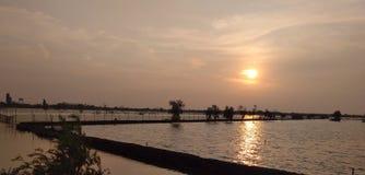 黄色湖 库存图片