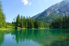 绿色湖(Grüner看见)在Bruck der Mur,奥地利 免版税库存图片