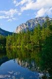 绿色湖(Grüner看见)在Bruck der Mur,奥地利 免版税库存照片