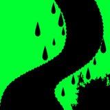 绿色漏斗背景显示龙卷风或天气绘画 库存照片