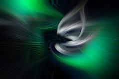 绿色漩涡艺术 库存图片