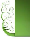 绿色漩涡 库存图片