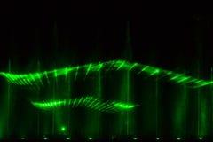 绿色激光展示 免版税库存照片