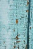 绿色灰色油漆呈杂色的木门 库存照片