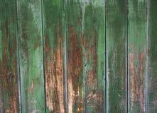 绿色灰色被绘的木板条可以使用作为背景 土气,破旧的小鸡木背景 年迈的木板条样式 Woode 免版税图库摄影