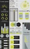 绿色灰色infographics 免版税库存照片