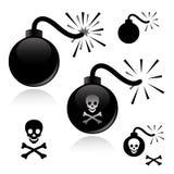黑色炸弹 免版税库存图片