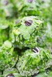 绿色点心和曲奇饼 库存照片