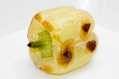 黄色烘烤了烤的胡椒 库存图片