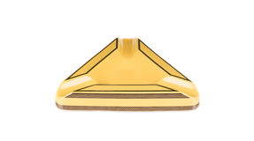 黄色烟灰缸 免版税库存图片