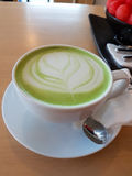 绿色热茶 图库摄影