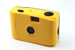黄色照相机射击和是 免版税库存图片